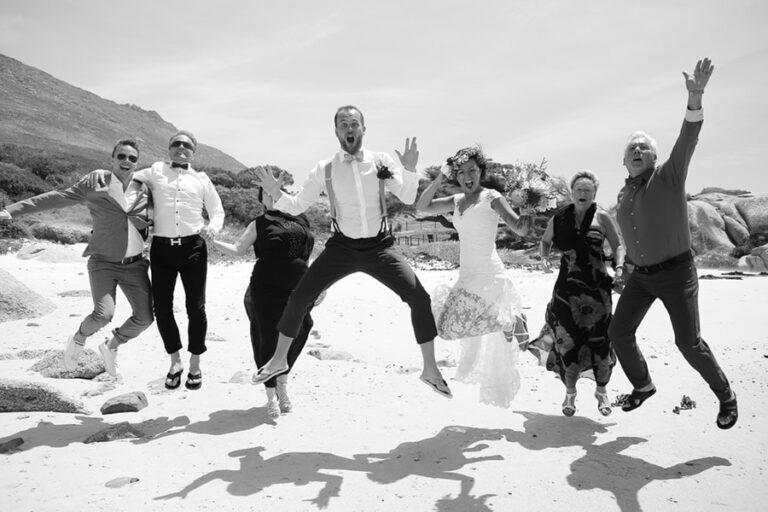 beach wedding, windmill beach simonstown